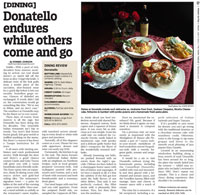 Donatello dining review