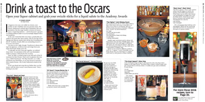 Oscars inspired cocktails